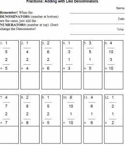 Teaching Nfb Ab  Decomposing Fractions  Adding  Adding And Subtracting Fractions Printable Worksheets