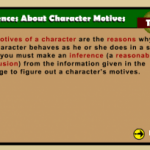 Character Motives Lesson