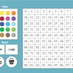 Interactive 99 or 100 Number Chart