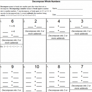 Decompose Numbers Videos – The Teachers' Cafe – Common Core Resources