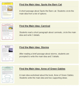 Main Idea Worksheets (nonfiction): Grades 5-12 – The ...