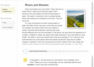 comprehension online quiz