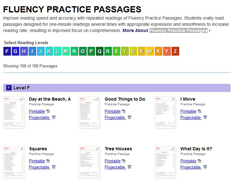 Fluency Passages: Grades 1-5 – The Teachers' Cafe – Common ...