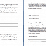 Key Ideas and Details Worksheets Intermediate » The Teachers' Cafe