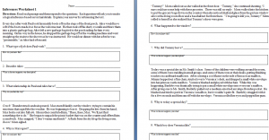 Printables Inferencing Worksheets making inferences worksheets the teachers cafe worksheet