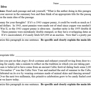 math worksheet : main idea worksheets nonfiction  grades 5 12 » the teachers  cafe : Multiple Choice Main Idea Worksheets