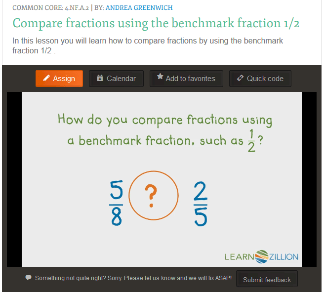 Teaching 4a2 Compare Two Fractions With Different Numerators