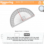 Measuring Angles –  Interactive Protractor