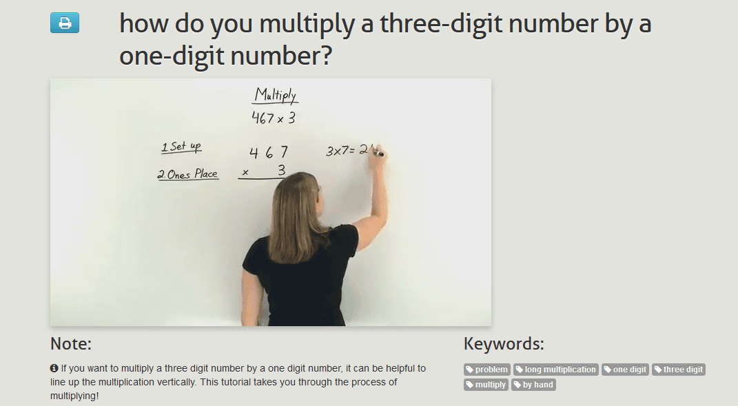 Teaching 4nbtb5 Multiply A Whole Number Of Up To Four Digits By