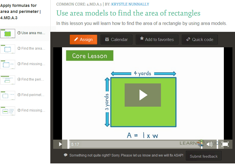 Teaching 4.MD.A.3 – Apply Area and Perimeter Formulas for Rectangles ...
